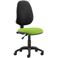 Eclipse I Lever Task Operator Office Chair Swizzle Green Seat