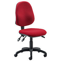 Eclipse III Lever Task Operator Office Chair Wine