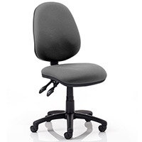Luna II Lever Task Operator Office Chair Charcoal Without Arms