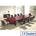 Executive Dark Cherry Boardroom Table 14 Seater 4000mm