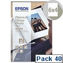 "Epson 6x4"" Glossy Premium Photo Paper (Pack of 40)"