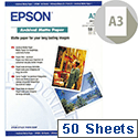Epson A3 Plus Archival Matte Printer Paper Pack 50