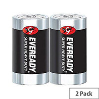 Eveready Battery Silver D Pk2 R20B2UP