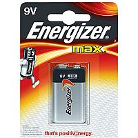 Energizer MAX 522 9V Alkaline Battery (Pack of 1)