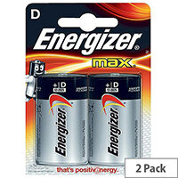 Energizer MAX E95 D Alkaline Batteries (Pack of 2)