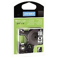 Dymo D1 Permanent Tape 19mm x5.5m Black/White