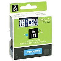 Dymo Blue on White 2000/5500 Standard Tape 19mmx7m S0720840
