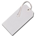 Fisher Clark Tags Strung 5CKL 120x60mm White Single Pack of 75 8014