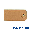 Fisher Clark Tags Unstrung 8A 160x80mm Buff Single Pack of 1000 TG8028