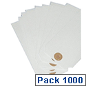 Fisher Clark Tags Unstrung 5CK 120x60mm White Single Pack of 1000 TG8034