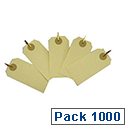 Fisher Clark Tags with Secure Clips 82x41mm Buff/Natural Pack of 1000 TG8120