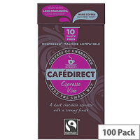 Cafedirect Nespresso Compatible Coffee Pods Vivo Pack of 100 FCR0035