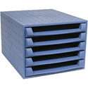 Forever A5 Drawer Set Blue with FOC Blue Pot
