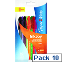 Paper Mate InkJoy 100 Assorted Colour Pens Pk10 S0957191
