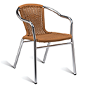 Aluminium Frame Wicker Outdoor Stacking Arm Chair