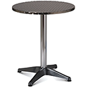 Aluminium 600mm Diameter Round Outdoor Cafe & Bistro Table