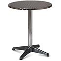 Aluminium 600mm Diameter Round Outdoor Cafe & Bistro Table