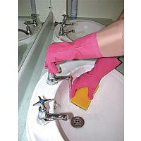 Shield Household Rubber Gloves Medium Pink Pack of 1 GR01P