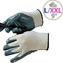 Shield Grey Nitrile Coated Nylon Gloves Gi/Nn9 Size 9 M/L-Men or XXL-Women Pack 1