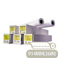 HP C6980A White Coated Paper Roll 914mm x91.4m 90gsm