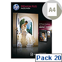 HP A4 Premium Plus Inkjet Photo Paper Glossy 300gsm (Pack of 20)