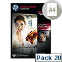 HP White A4 Premium Semi-Glossy 300gsm Photo Paper (Pack of 20)