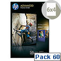 HP 10x15cm Advanced Glossy Photo Paper 250gsm (Pack 60)