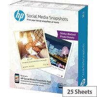 HP Social Media Snapshots 10x13cm Pack of 25 W2G60A