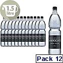 Harrogate Spring Bottled Water Still 1.5 Litre PET Black Label/Cap Pack of 12