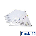 Rapesco A4 Zippi Bag with Plastic Zip Pack of 25 Assorted 0796