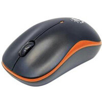 Manhattan Success Mouse Optical Wireless 3 Button s Orange Black Radio Frequency USB 1000 dpi Notebook Scroll Wheel 179409