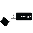 Integral Black USB 2.0 Flash Drive 64GB INFD64GBBLK