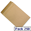 C4 Heavyweight Manilla Envelopes Pocket Press Seal Pack 250 5 Star Ref J90013