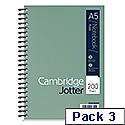 Cambridge JD A5 Jotter Wirobound Notebook Pack of 3