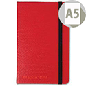 Black n' Red A5 Hard Cover Notebook Red