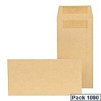 New Guardian DL Envelope Press & Seal  Manilla Pack 1000 B26219