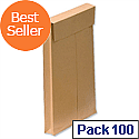 New Guardian C4 Gusset Envelopes Manilla Peel and Seal Pack 100