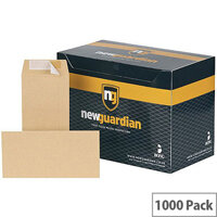 New Guardian Envelope DL Manilla Self-Seal Pack of 1000 Recycled H25411