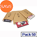 Jiffy Bubble Bag Envelopes No.5 Gold 260x345mm (Pack of 50)