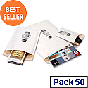 Jiffy No 3 Mailmiser Protective Envelopes White 220 x 380mm (Pack of 50)