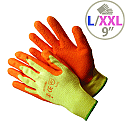 Shield Rubber Coat/Knit Gloves Orange Size 9 M/L-Men or XXL-Women GI/RC2