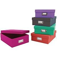Concord Colour Stationery Boxes Assorted 5pk