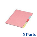 Concord Subject Divider A5 5-Part 70599/J5