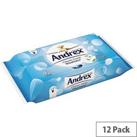 Andrex Classic Clean Moist Washlets 42 Wet Wipes Per Pack (Pack of 12) 4512278