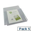 Q-Connect 3/4 Cover Expanding Punched Pocket A4 Pack of 5 KF00139