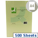 A4 Coloured Copier Paper 80gsm Yellow Ream 500 Sheets Q-Connect