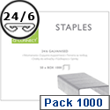 Q-Connect Staples 24/6 Pack of 1000 KF01278