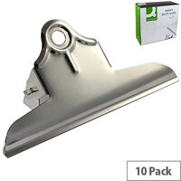Q-Connect Grip Clip Heavy Duty 150mm Silver (Pack of 10)