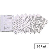 Index A4 Multi-Punched A-Z Polypropylene White Q-Connect KF01351
