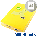 A4 Yellow Coloured Copier Paper 80gsm Bright Ream Q-Connect